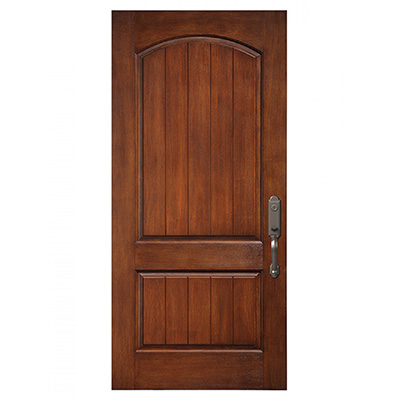 2 Panel Planked Camber Top Fiberglass Entry Door