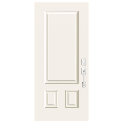 3 Panel Rectangular Top Fiberglass Entry Door